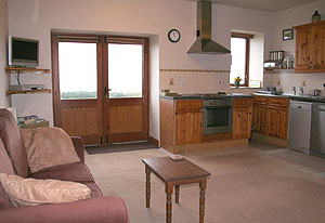 Lower Laithe holiday apartment kitchen and lounge